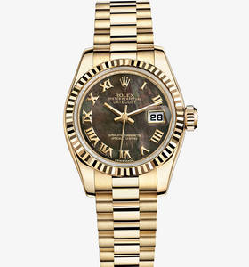 Replica Rolex Lady- Datejust Watch: 18 ct Gelbgold - M179178 -0024